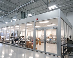Environmentally controlled manufacturing space