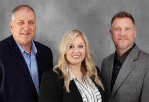 Sales team, left to right: Raymond Schenk, Aliza Alverson, Darrick Van Horne